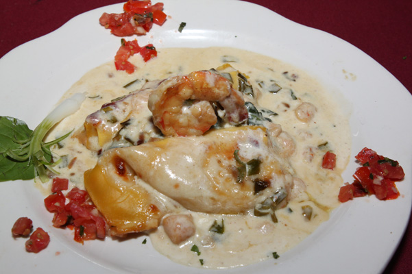 24.95 * Seafood Cannelloni